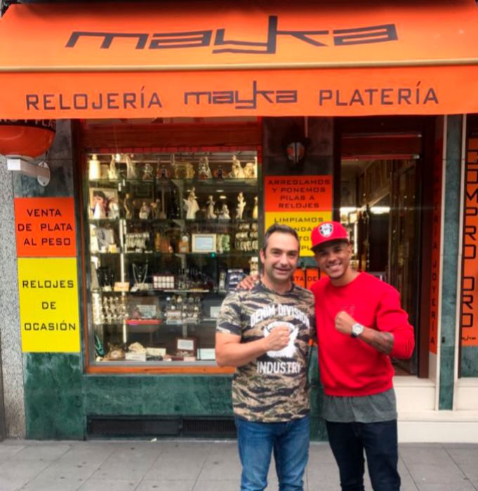Jonathan Maravilla Alonso junto a Alfredo Vejo.