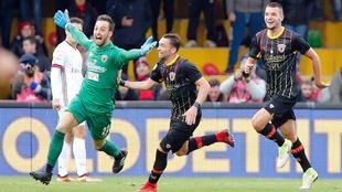 Brignoli celebra el gol del empate