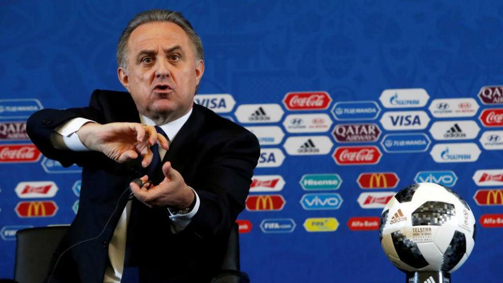El ministro Mutkó, durante el sorteo del Mundial de fútbol de Rusia...