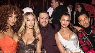 El piloto Lewis Hamilton, el luchador Conor McGregor, la modelo Irina...
