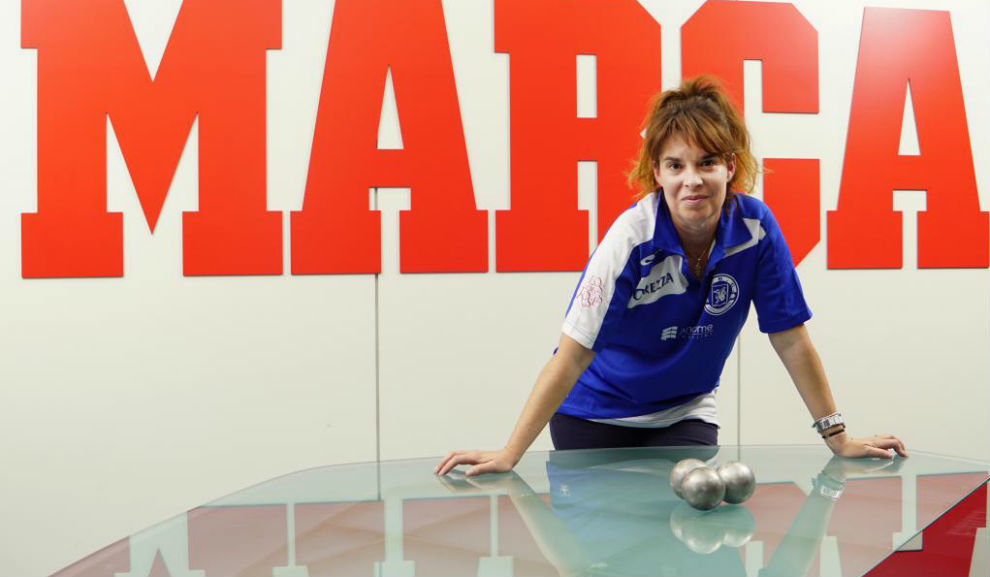 Yolanda Matarranz posa para MARCA con las bolas