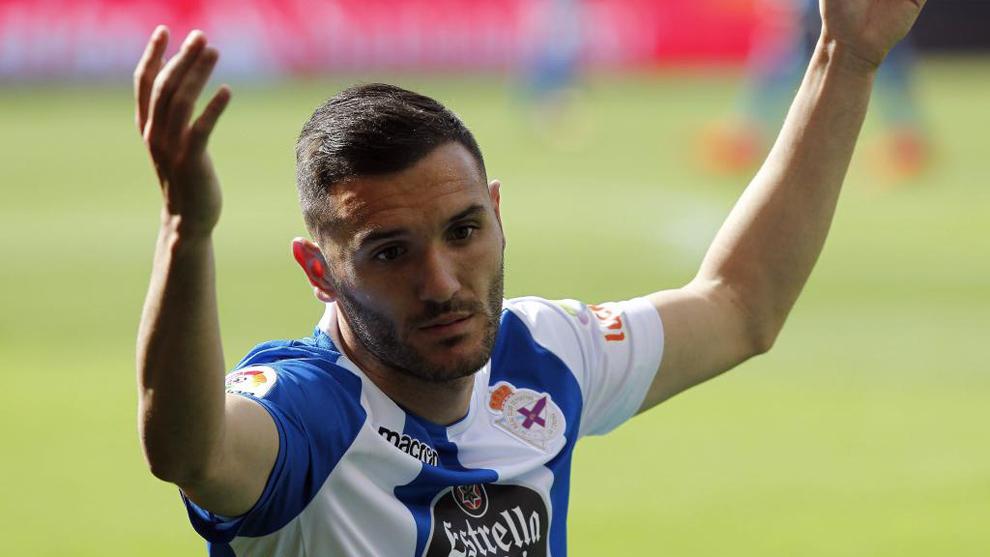 Lucas Pérez, durante un partido del Dépor