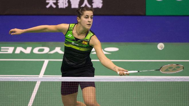 Carolina Marín, durante un partido del Abierto de Hong Kong