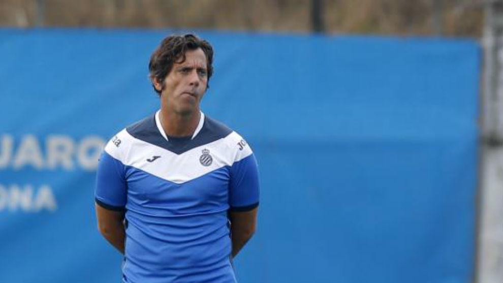 Quique Sánchez Flores, en la Ciudad Deportiva
