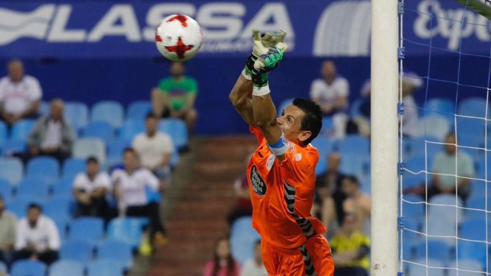 Roberto, esta temporada en Copa ante el Zaragoza.