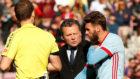 Sergi Gómez, lesionado en el Camp Nou