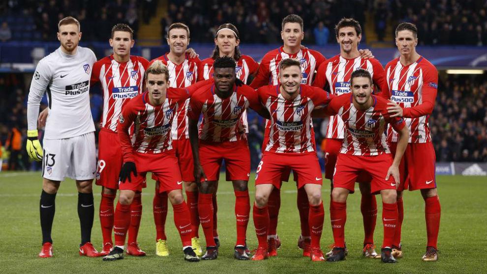 Once inicial del Atlético en Stamford Bridge