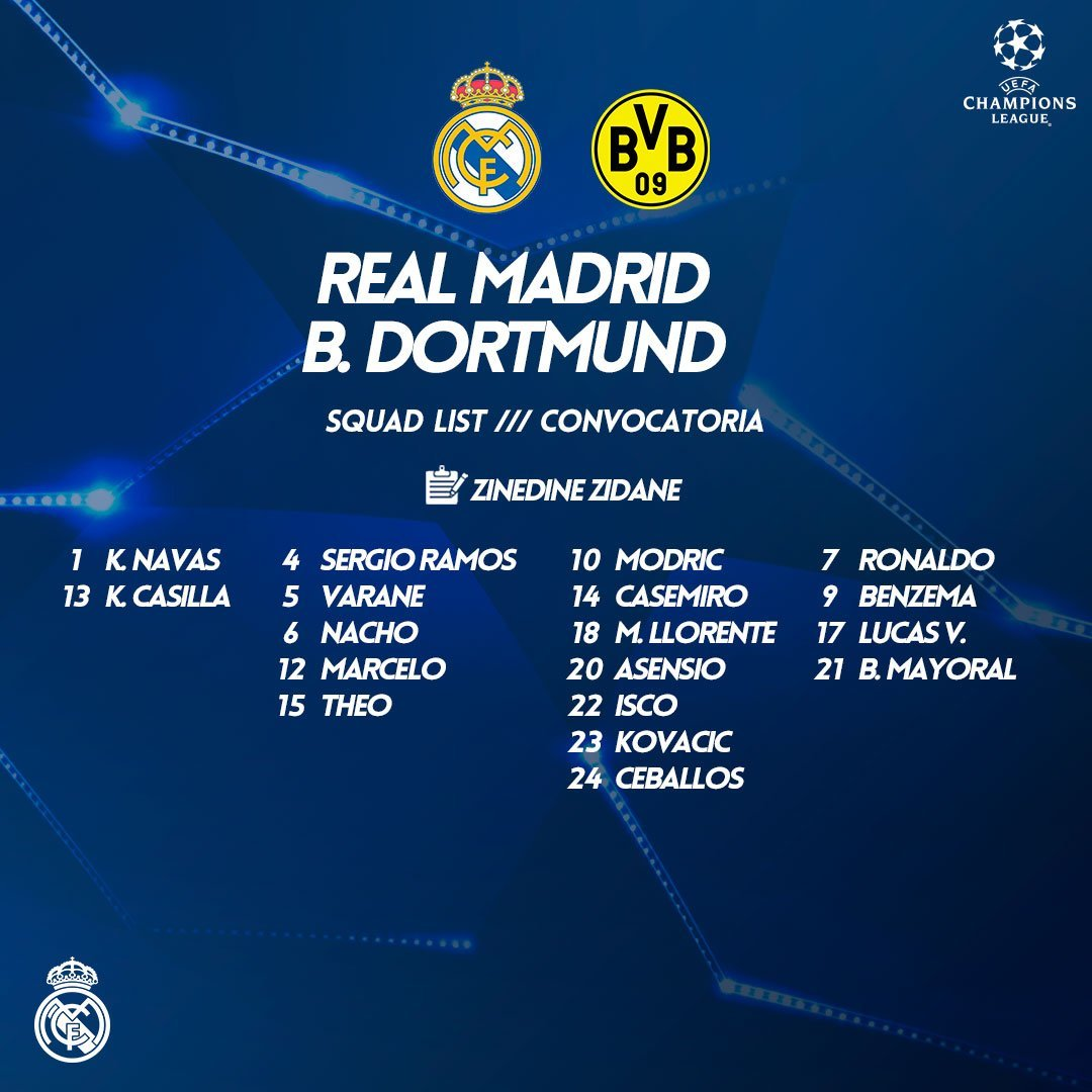 Real Madrid vs Dortmund 15125563066903