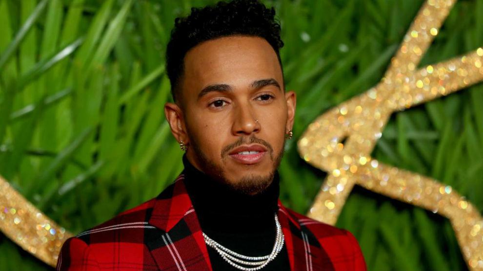 Lewis Hamilton en los Premios de la Moda Británica