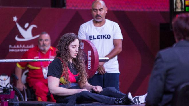Loida Zabala, en el Mundial de halterofilia paralímpica celebrado en...