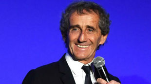 Alain Prost, asesor de Renault, en la gala de la FIA en París