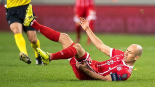 Arjen Robben, durante un partido del Bayern.