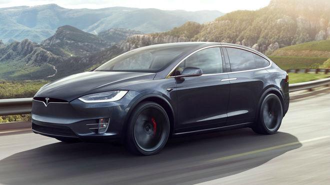 El Tesla Model X.