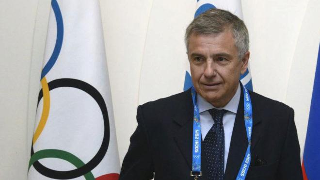 Juan Antonio Samaranch, durante una reunión del COI