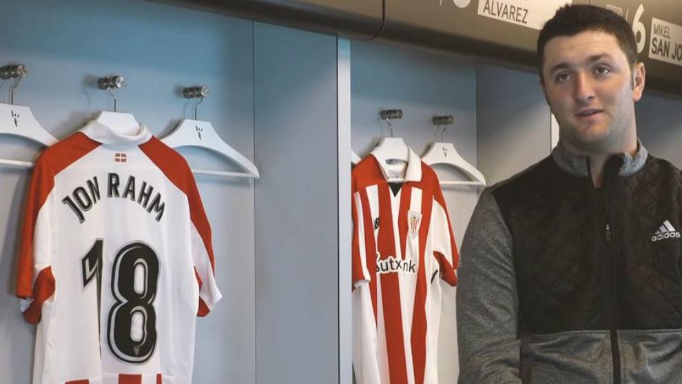 Jon Rahm, en un momento de la entrevista con Athletic TV