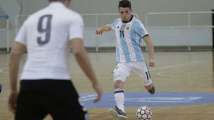 Santiago Rufino, durante un partido con la selección argentina.