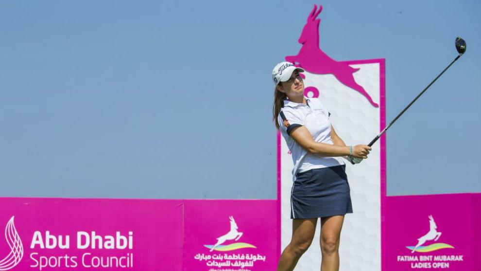 Luna Sobrón, durante el Fatima Bint Mubarak Ladies Open.