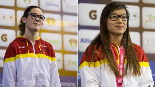 Marian Polo e Isabel Yingua, en el podio en México