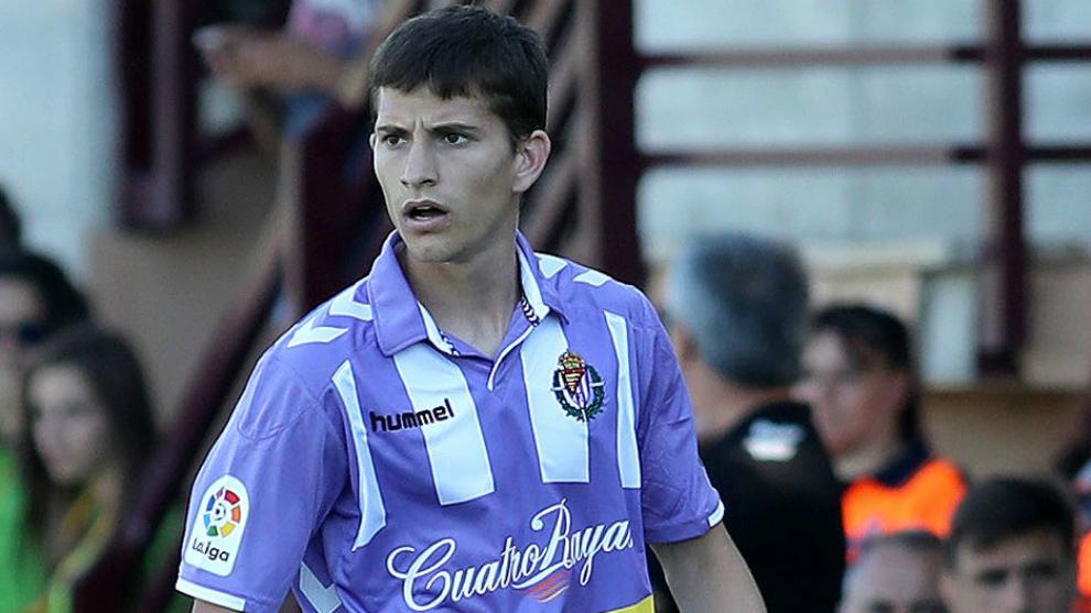 Toni Villa (22), durante un partido con el conjunto blanquivioleta.