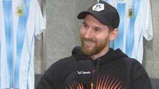 Messi, en la entrevista con TyC Sports.