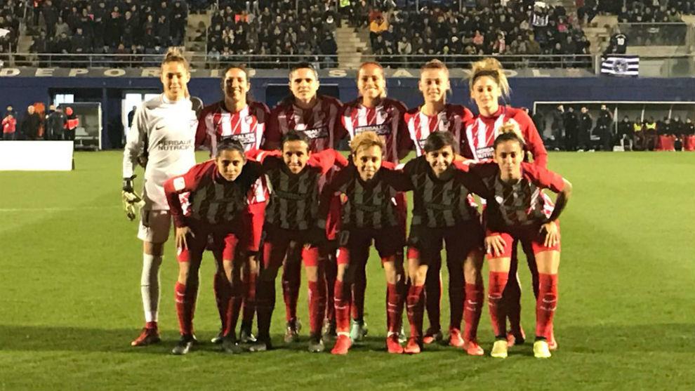 Once inicial del Atlético de Madrid frente al Espanyol en Barcelona.