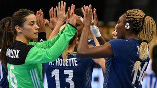 La selección de Francia, en su partido conra Paraguay.