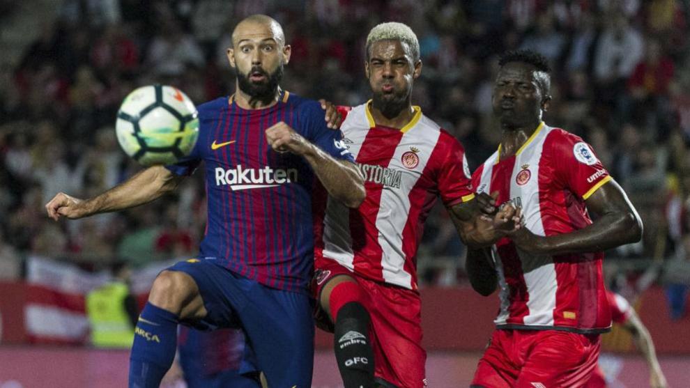 Mascherano se anticipa a Ramalho el día del Barcelona-Girona.