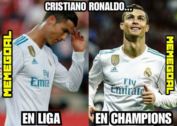CR7 in LaLiga... and in the Champions League.