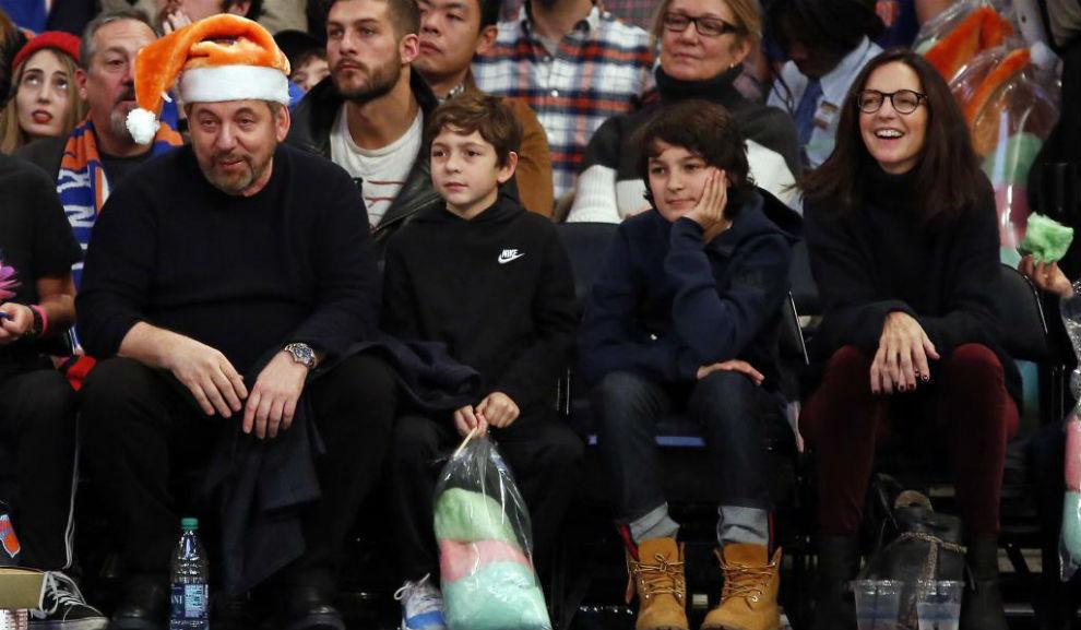 James Dolan, en un partido de los Knicks el pasado 3 de diciembre