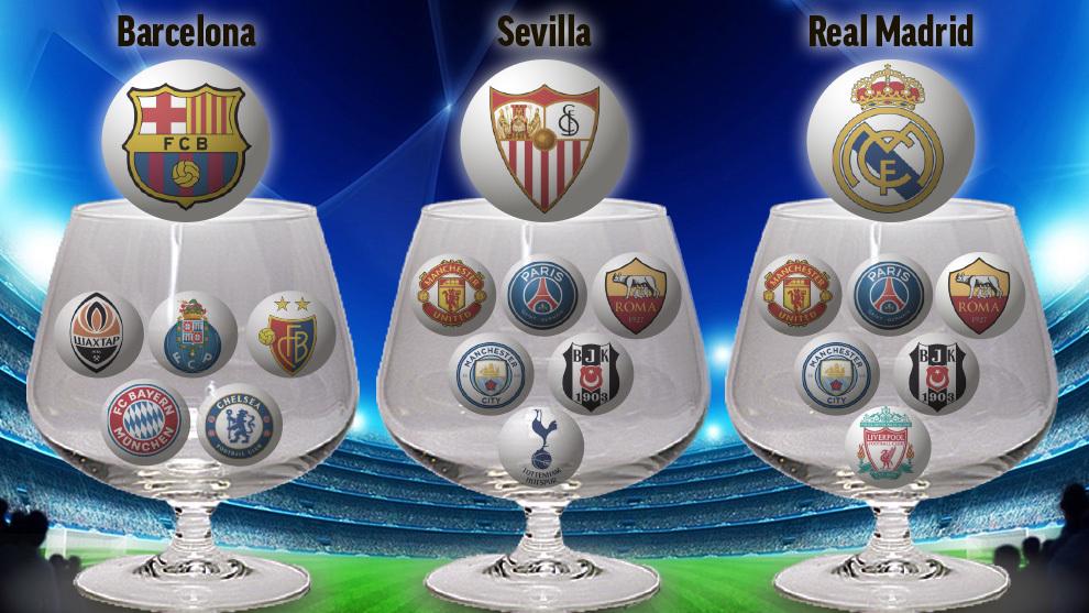 Sorteo 1/8 champions 15126378781622