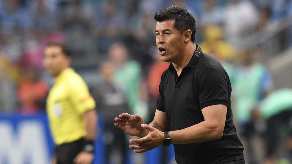 Almirón, en la final de la Copa Libertadores