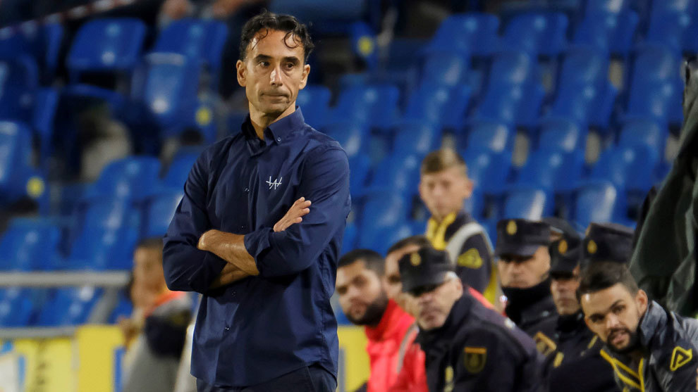 Paquito, durante un partido de la UD Las Palmas.