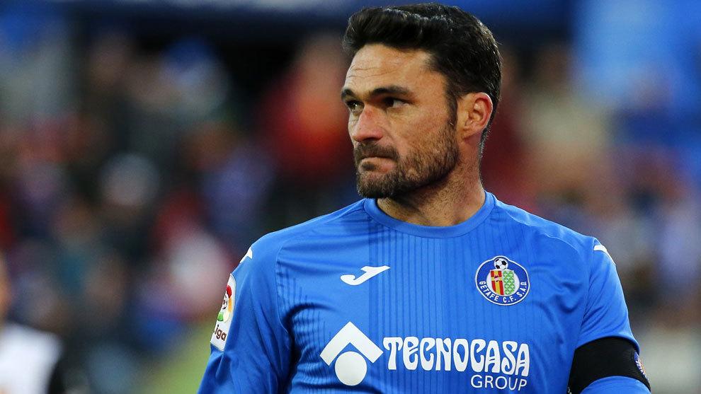 Jorge Molina, en el partido ante Valencia