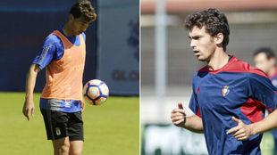 Lucas Torró, en su etapa en el Oviedo y entrenando este curso con...