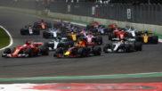 Salida del Gran Premio de México.