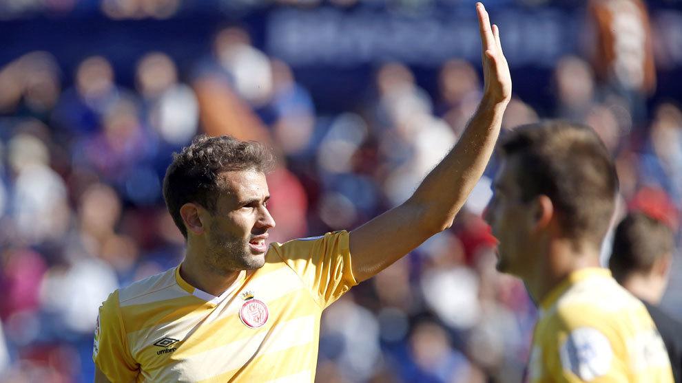 Stuani celebra un gol del Girona ante el Levante