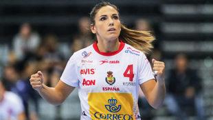 Carmen Martín, autora del último gol de las 'Guerreras'...
