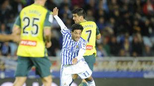 Carlos Vela, en un partido de esta temporada de la Real Sociedad.