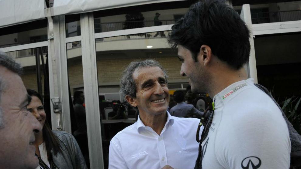 Alain Prost felicita a Carlos Sainz por su séptimo puesto en Austin