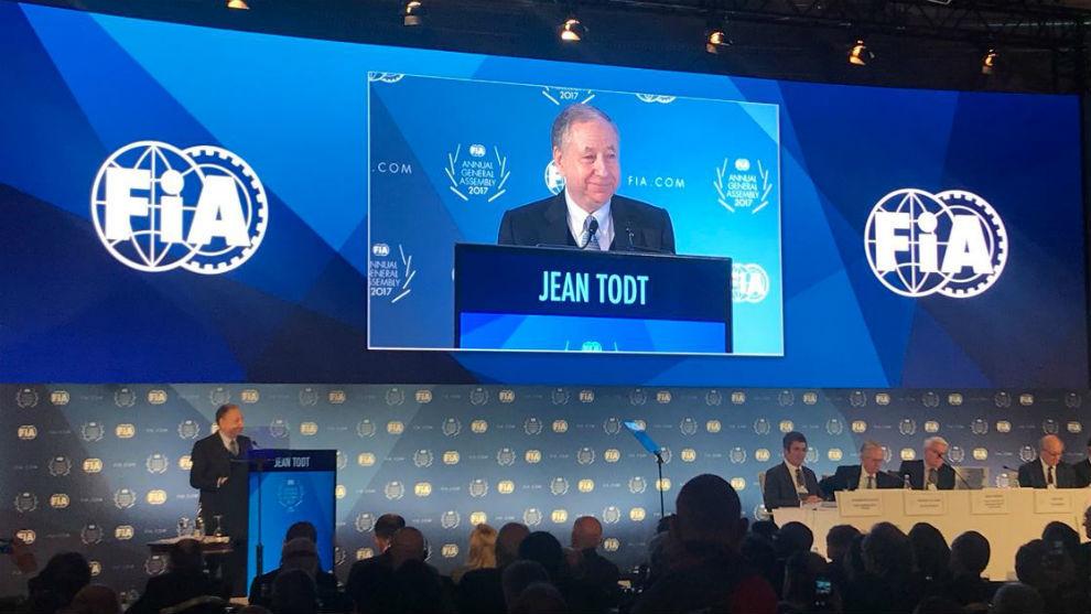 Jean Todt, en la Asamblea General de la FIA