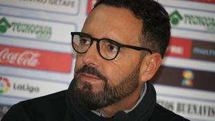 José Bordalás, en conferencia de prensa