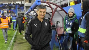 Mendilibar, en un partido entre el Eibar y el Betis