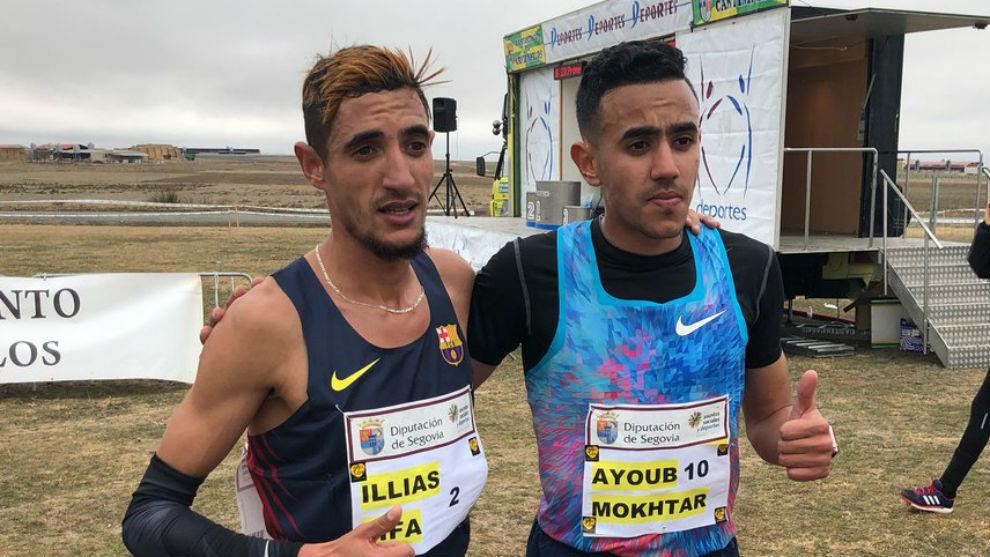 Ilias Fifa y Ayoub Mokhtar tras acabar.