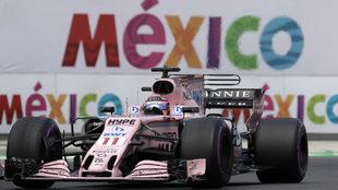 Sergio Pérez en el GP de México