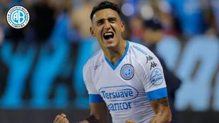 Matías Suárez festeja después de marcar ante Huracán