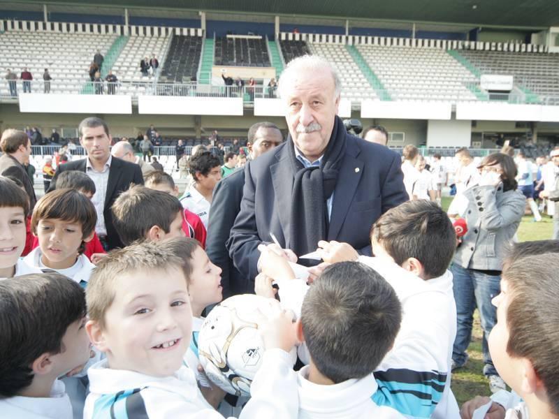 Del Bosque, en una visita al estadio de Castalia