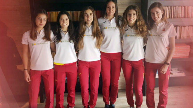 El equipo español sub 20 femenino.