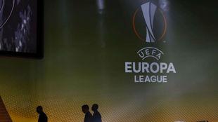 Imagen de uno de los sorteos de la Europa League.