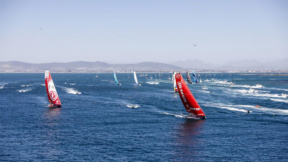 Salida de la flota de la Volvo Ocean Race en Ciudad del Cabo
