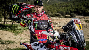Joan Barreda, piloto Monster Energy Honda en el Dakar 2018